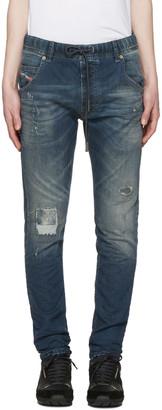 Diesel Blue Krooley-Ne Patch Jogg Jeans $300 thestylecure.com