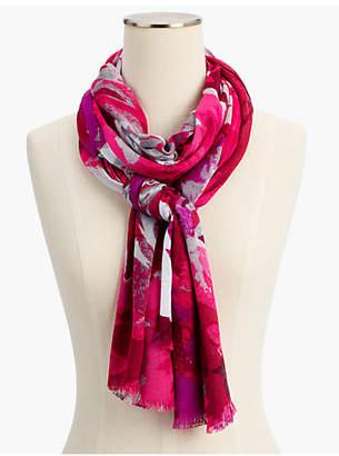 Talbots Silk & Cashmere Autumn Floral Scarf