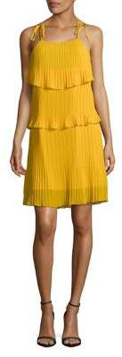 Design Lab Tiered Pleated Dress