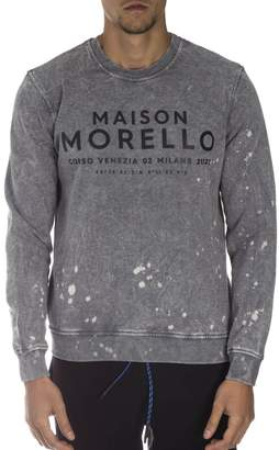 Frankie Morello Grey Cotton Sweatshirt