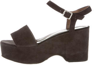 MarniMarni Suede Platform Wedge Sandals