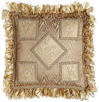 """Sweet Dreams Meriemont Pa Thread Counth Pillow with Ribbon Loop Fringe, 13""""Sq."""