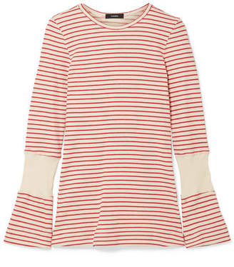 Bassike Striped Cotton Top - Cream