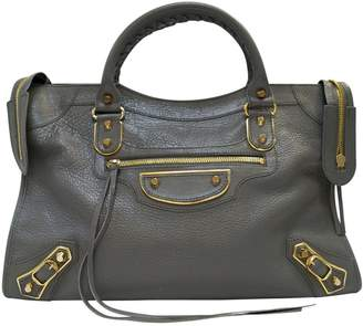 Balenciaga Classic Metalic leather handbag