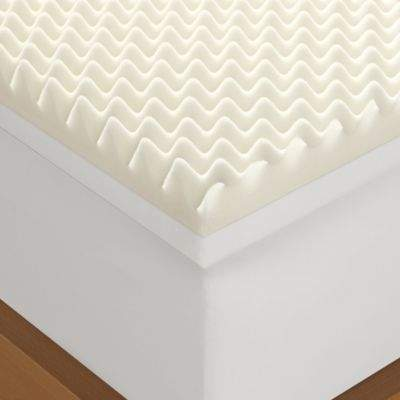 4-Inch Memory Foam Twin Mattress Topper in White