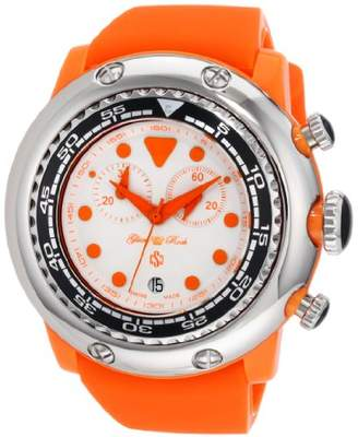 Glam Rock Women's GR20128 Miami Beach Chronograph White Dial Silicone Watch