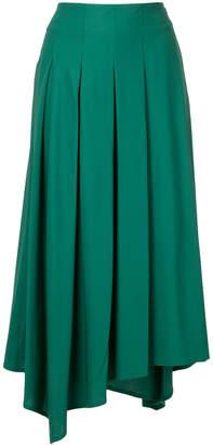 Aula asymmetric pleated skirt