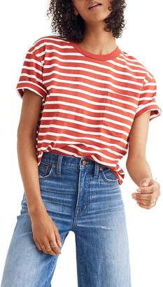 Madewell Stripe Easy Crop Tee