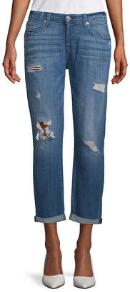 7 For All Mankind Seven 7 Distressed Rolled-Cuffs Jeans