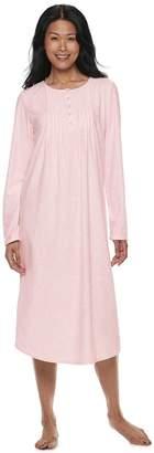 Croft & Barrow Petite Pintuck Velour Nightgown