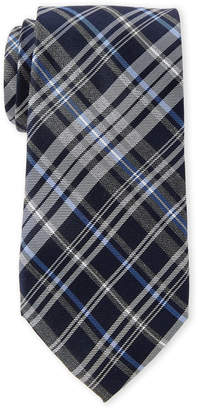 Tommy Hilfiger Cobalt Classic Plaid Tie