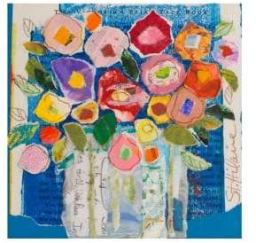 Marmont Hill Floral Composition Painting Print on Wrapped Canvas
