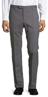 Strellson Checkered Wool Dress Pants