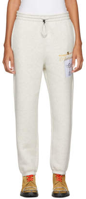 Alexander Wang White Platinum Trophy Patch Lounge Pants