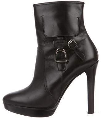 Ralph Lauren Leather Platform Boots