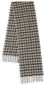 Saks Fifth Avenue Gingham Cashmere & Merino Wool Scarf