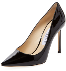 Jimmy Choo Romy 100mm Patent Leather Pointed-Toe Pump