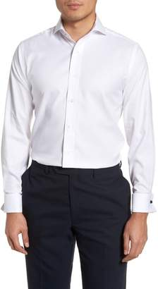Lorenzo Uomo Trim Fit Basket Weave Dress Shirt