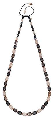 Lola Rose Islington Brown Stripe Agate Black Agate Necklace90cm