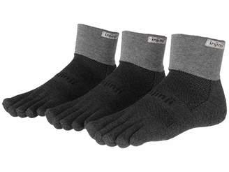 Coolmax Injinji Trail Midweight Mini-Crew 3 Pair Pack Quarter Length Socks Shoes