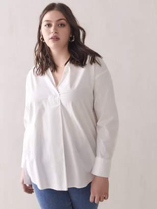 Oversized Tunic Shirt Blouse - Addition Elle
