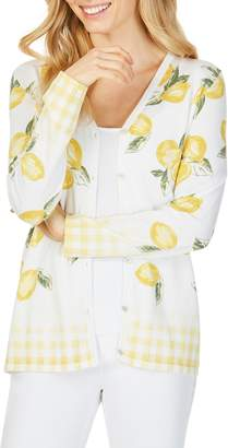 Foxcroft Veronika in Lemons Cardigan