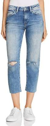 Mavi Jeans Niki Crop Tapered Jeans in Light Ripped Vintage
