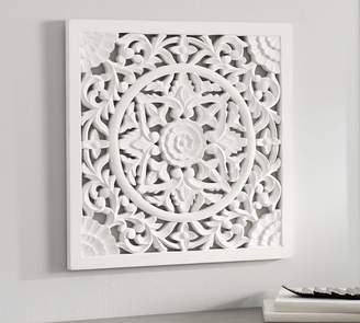 Pottery Barn Chelsea Carved Wood Medallion Panel