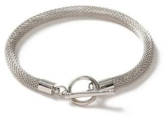 Topman Mens SILVER Mesh T-Bar Bracelet*