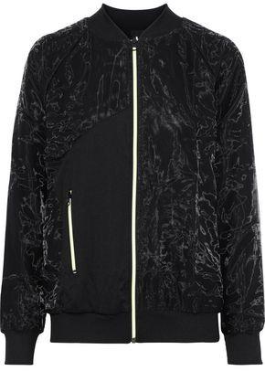 Koral Soho Paneled Crinkled-Shell And Ribbed-Knit Jacket