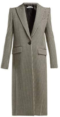 Givenchy Houndstooth Wool Coat - Womens - Black White