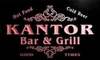 AdvPro Name u22581-r KANTOR Family Name Bar & Grill Home Beer Food Neon Sign