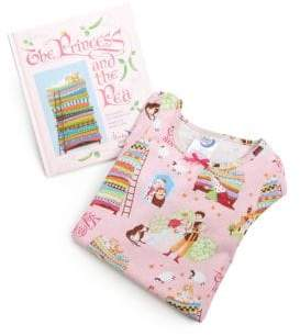 Little Girl's The Princess And The Pea Nightgown and Book Set