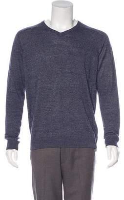 Vince Linen V-Neck Sweater