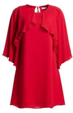 Halston H Drape Overlay Shift Dress