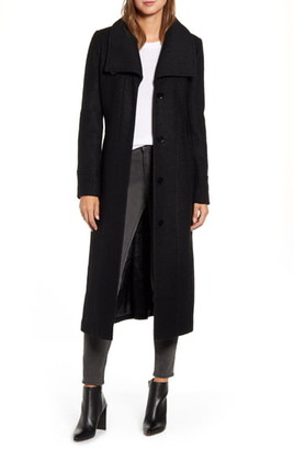 Kenneth Cole New York Boucle Maxi Coat