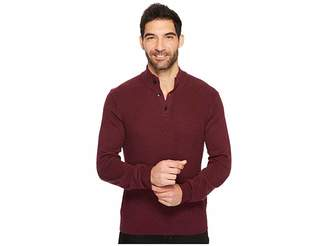 Perry Ellis Solid Textured Mock Neck Sweater Men's Sweater