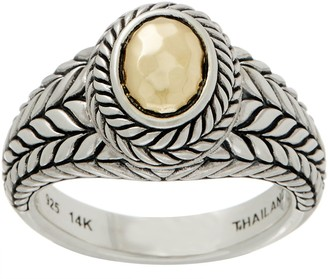 Jai JAI Sterling Silver & 14K Gold Basketweave Ring
