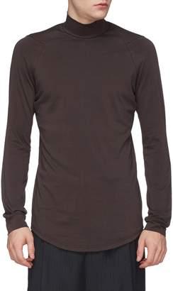 DEVOA Mock neck long sleeve T-shirt