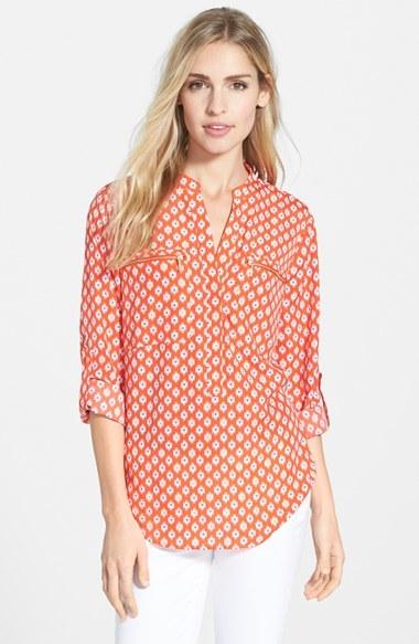 MICHAEL Michael Kors ' Multi Shore Ikat' Zip Pocket Shirt