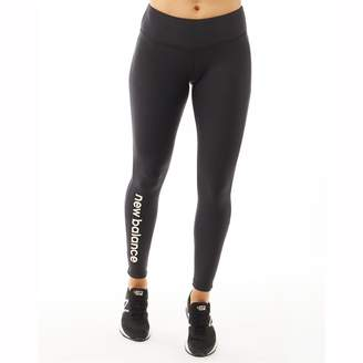 New Balance Womens Graphic Modern Running Tight Leggings Black