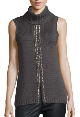 Ramy Brook Leah Embellished Merino Wool Sweater $345 thestylecure.com