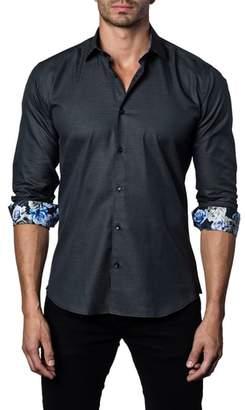 Jared Lang Trim Fit Woven Sport Shirt