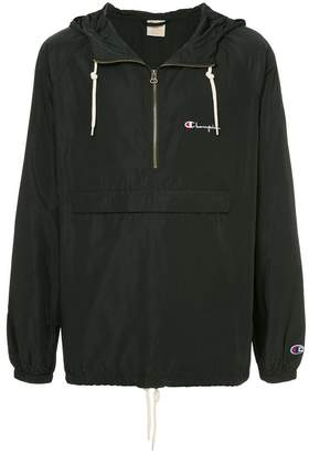 Champion logo embroidered hooded jacket
