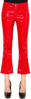 RtA Flared Faux Patent Leather Pants W/ Zips