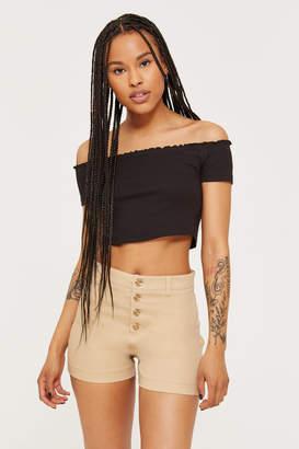 Ardene Cotton Buttoned Shorts