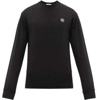 Stone Island Long Sleeved Cotton Jersey T Shirt - Mens - Black