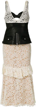 Alexander Wang lace midi dress with corset panel