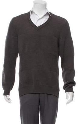 Maison Margiela Knit V-Neck Sweater grey Knit V-Neck Sweater