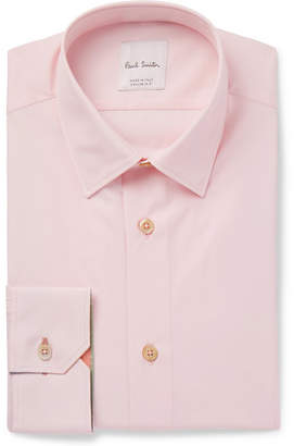 Paul Smith Pink Slim-Fit Cotton-Poplin Shirt - Pink